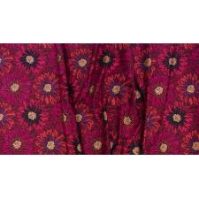 FF500-RU1M Shiny Objects - Good as Gold - Embossed Blooms - Ruby Metallic Fabric 3