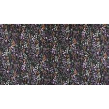 PS102-PE3M Lilac & Sage - Wildflowers - Pebble Copper Pearl Metallic Fabric 2