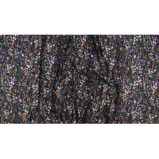 PS102-PE3M Lilac & Sage - Wildflowers - Pebble Copper Pearl Metallic Fabric 3