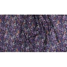 PS102-PU1M Lilac & Sage - Wildflowers - Purple Copper Pearl Metallic Fabric 3
