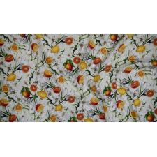 RJ1400-VA1 Citrus Garden - Lilies with Citrus - Vanilla Fabric 3