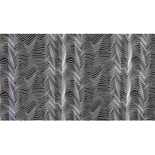 RJ1422-WB1 Gray Matter - Zig Zag - White on Black Fabric 2