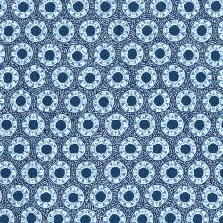 2644-001 Chirp - Dot - Denim Fabric