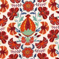 3035-002 Mirage - Pomegranate - Whisper White Fabric