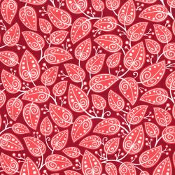3037-004 Mirage - Vines - Raspberry Wine Fabric