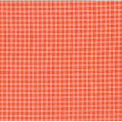 2929-003 Vintage Made Modern - Stitcher's Garden - Small Gingham - Coral Fabric