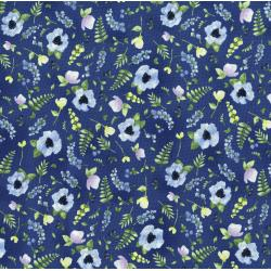 3294-002 June's Cottage - Blossoms And Berries - Starry Night Fabric
