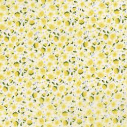 3296-003 June's Cottage - Forget Me Not - Cream And Sugar Fabric
