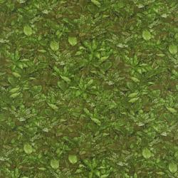 1824-001 Danscapes - Leafy Plants - Green Fabric