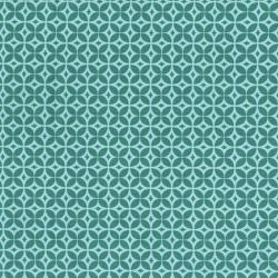 2361-003 Home Seweet Home - Geometrics - Aqua Fabric