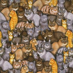 2363-001 Meow Mix - Cats - Multi Fabric