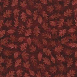 2347-001 Shades Of Autumn - Tonal Leaves - Red Fabric