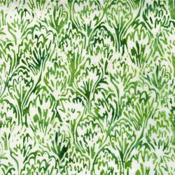 2813-003 Blossom Batiks - Feathers - English Ivy Batik Fabric