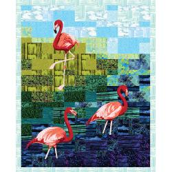 9653-389 Blossom Batiks - Flora Flamingo Kit
