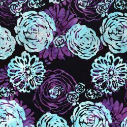 3503-002 Blossom Batiks - Splash - Bouquet - Amethyst Fabric