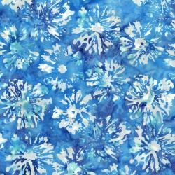 3506-003 Blossom Batiks - Splash - Daisies - Pool Fabric