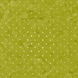 3137-002 Blossom Batiks - Valley - Pin Dot - Green Apple Batik Fabric