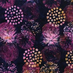 3573-001 Blossom Batiks - Horizon - Medallion - Night Blooms Fabric