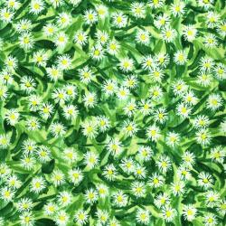 2945-002 Daisy Blue - Flowering Field - Spring Fabric