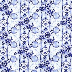 2949-001 Daisy Blue - Charm And Chirp - Porcelain Fabric