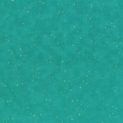 2792-007 Oasis - Flurries - Teal Metallic Fabric