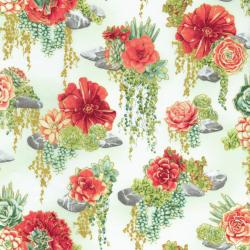 2884-001 Oasis - Tranquil Trail - Coral Fabric