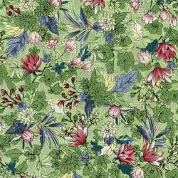 3251-003 Serene Spring - May Flowers - Seedling Metallic Fabric