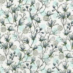 3252-001 Serene Spring - Budding Blossoms - Ice Metallic Fabric