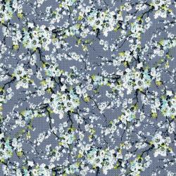 3254-001 Serene Spring - First Flourish - Fog Metallic Fabric