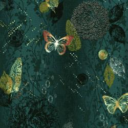 3018-001 Shiny Objects - Menagerie - Creek Metallic Fabric