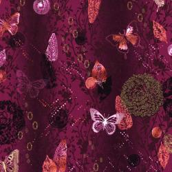 3018-002 Shiny Objects - Menagerie - Larkspur Metallic Fabric