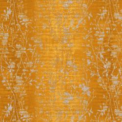 3022-004 Shiny Objects - Velvety Vines - Daffodil Metallic Fabric