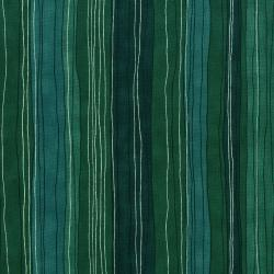 3023-001 Shiny Objects - Sterling Stripe - Turquoise Metallic Fabric