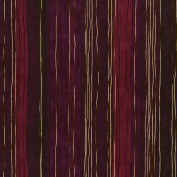 3023-004 Shiny Objects - Sterling Stripe - Dahlia Metallic Fabric