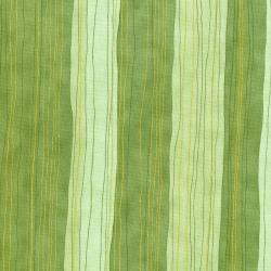 3023-008 Shiny Objects - Holiday Twinkle - Sterling Stripe - Pistachio Metallic Fabric