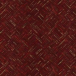 3026-004 Shiny Objects - Holiday Twinkle - Alloy - Red Velvet Metallic Fabric