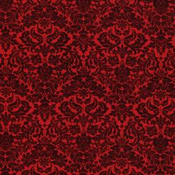 3163-003 Shiny Objects - Holiday Twinkle - Dazzling Damask - Radiant Crimson Metallic Fabric