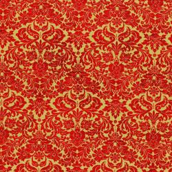 3163-004 Shiny Objects - Holiday Twinkle - Dazzling Damask - Scarlet Metallic Fabric