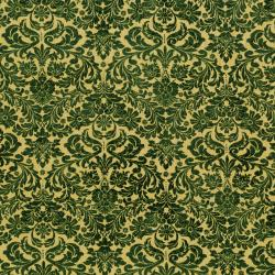 3163-006 Shiny Objects - Holiday Twinkle - Dazzling Damask - Tannenbaum Metallic Fabric