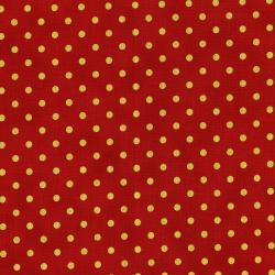 3164-003 Shiny Objects - Holiday Twinkle - Spot On - Candied Apple Metallic Fabric