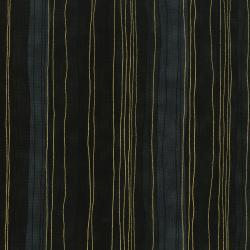3023-009 Shiny Objects - Precious Metals - Sterling Stripes - Onyx Metallic Fabric
