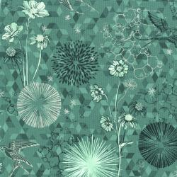3529-002 Shiny Objects - Sweet Somethings - Only In Dreams - Mint Leaf Metallic Fabric