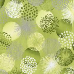 3530-004 Shiny Objects - Sweet Somethings - Bonbon - Lime Metallic Fabric