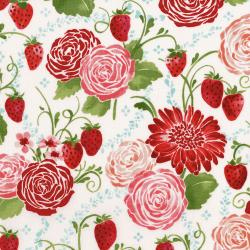 3370-001 Sugar Berry - Picnic In The Park - Radiant Berry Metallic Fabric