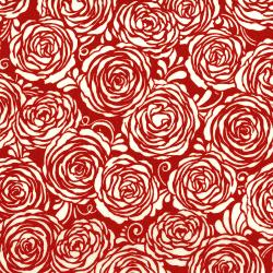 3372-003 Sugar Berry - Candied Roses - Radiant Cherry Metallic Fabric