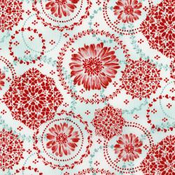 3373-001 Sugar Berry - Daisy Delight - Radiant Crystal Metallic Fabric