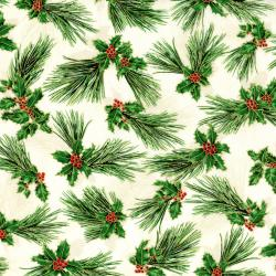 2787-001 Suite Christmas - Pretty Pine - Sugar Metallic Fabric