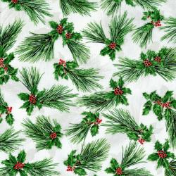 2787-002 Suite Christmas - Pretty Pine - Icicle Metallic Fabric