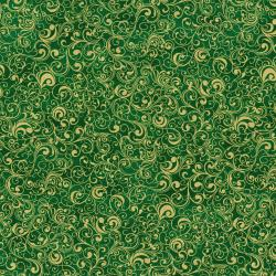 2791-011 Suite Christmas - Waltz - Pine Metallic Fabric