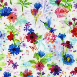 3337-001 The Paper Garden - Cut Out Creation - Rainbow Digiprint Fabric
